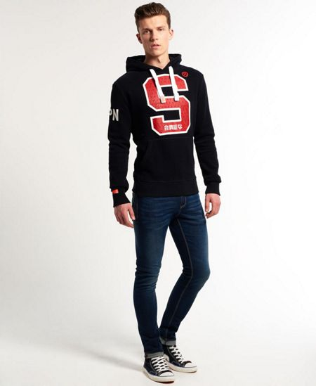 Superdry Signature S Print Crew Neck Pull Over Overhead