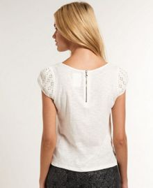 Broderie Panel Top