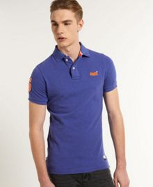 Superdry Pique Plain Regular Fit Polo Shirt