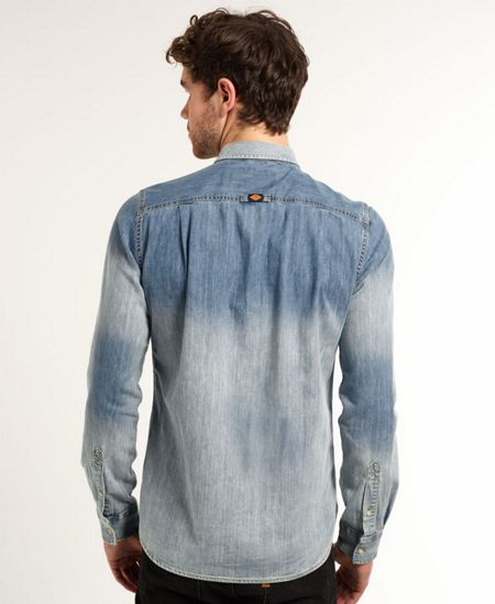 Superdry London Plain Classic Fit Long Sleeve Shirt