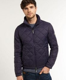 Superdry Fuji Diamond Casual Full Zip Bomber Jacket