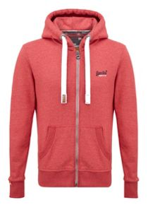Orange Label Graphic Zip Fastening Hoodie