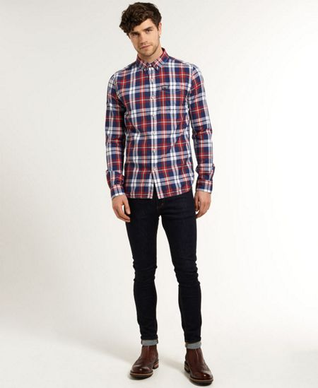 Superdry Princeton Oxford Plain Long Sleeve Shirt