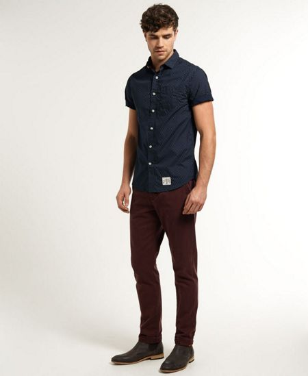 Superdry Laundered Plain Classic Fit Short Sleeve Shirt