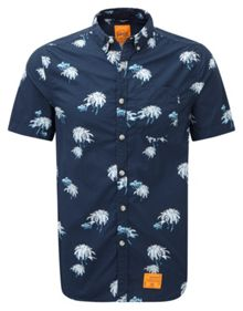 Southbank Surf Print Classic Fit Short Sleeve But