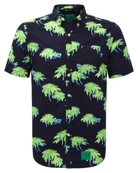 Superdry Southbank Surf Print Short Sleeve Shirt