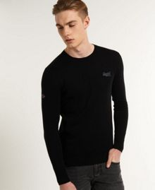 Orange Label Plain Crew Neck Jumper