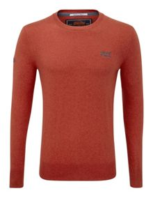 Orange Label Embroided Crew Neck Jumper