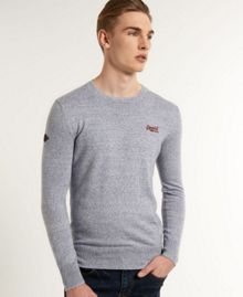 Superdry Orange Label Plain Crew Neck Jumper