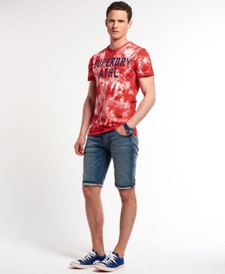 Superdry Athletic 77 Print Crew Neck Regular Fit T-Shirt