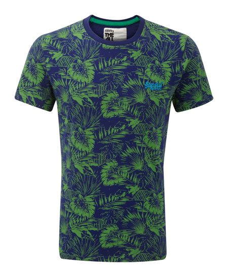 Superdry Surf California Print Crew Neck T-Shirt