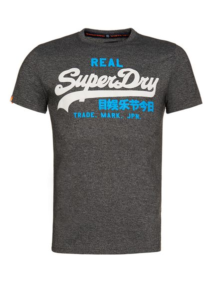 Superdry Vintage Logo Plain Crew Neck Regular Fit T-Shirt
