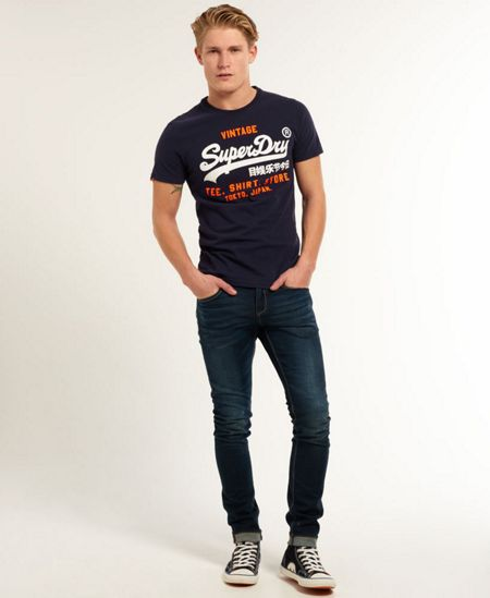 Superdry Shirt Shop Logo Crew Neck Regular Fit T-Shirt