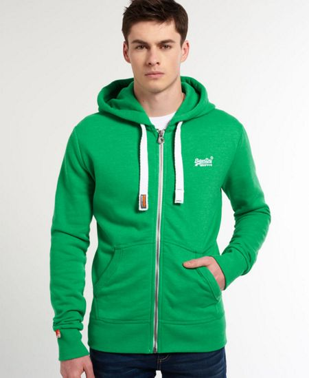 Superdry Plain Zip Collar Zip Fastening Zip-Thru