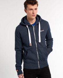 Superdry Tri Plain Crew Neck Zip Fastening Zip-Thru
