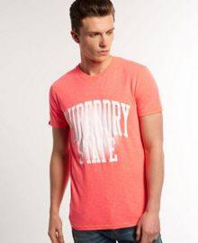 Fluro Burnout Print Crew Neck Regular Fit T-Shirt