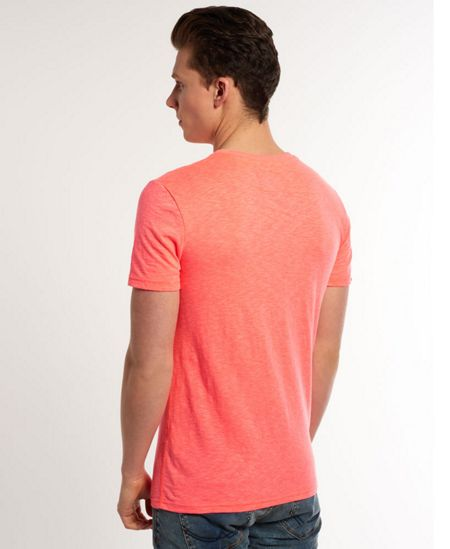 Superdry Fluro Burnout Print Crew Neck Regular Fit T-Shirt