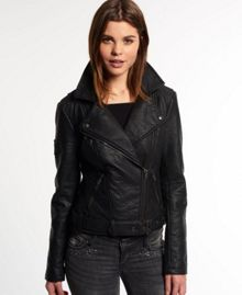 Superdry Faux Leather Roadie Biker Jacket