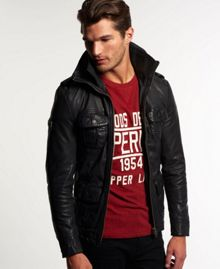 Superdry Brad Hero Leather Jacket