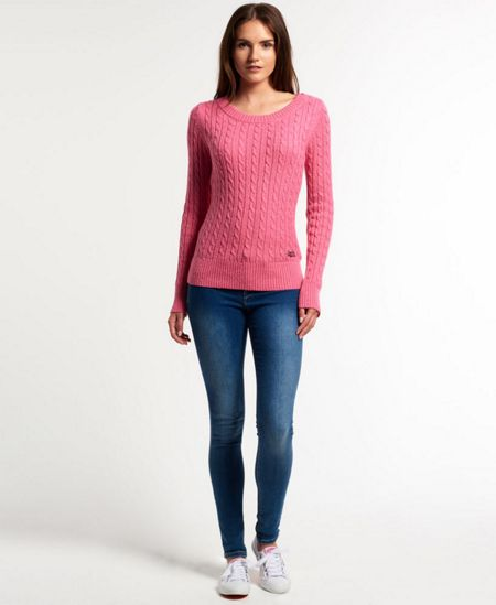 Superdry New Croyde Cable Crew Neck Jumper