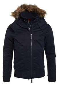 Superdry Microfibre Fur Hooded Windbomber