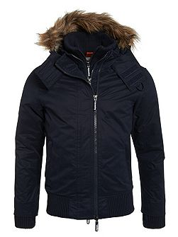 Microfibre Fur Hooded Windbomber