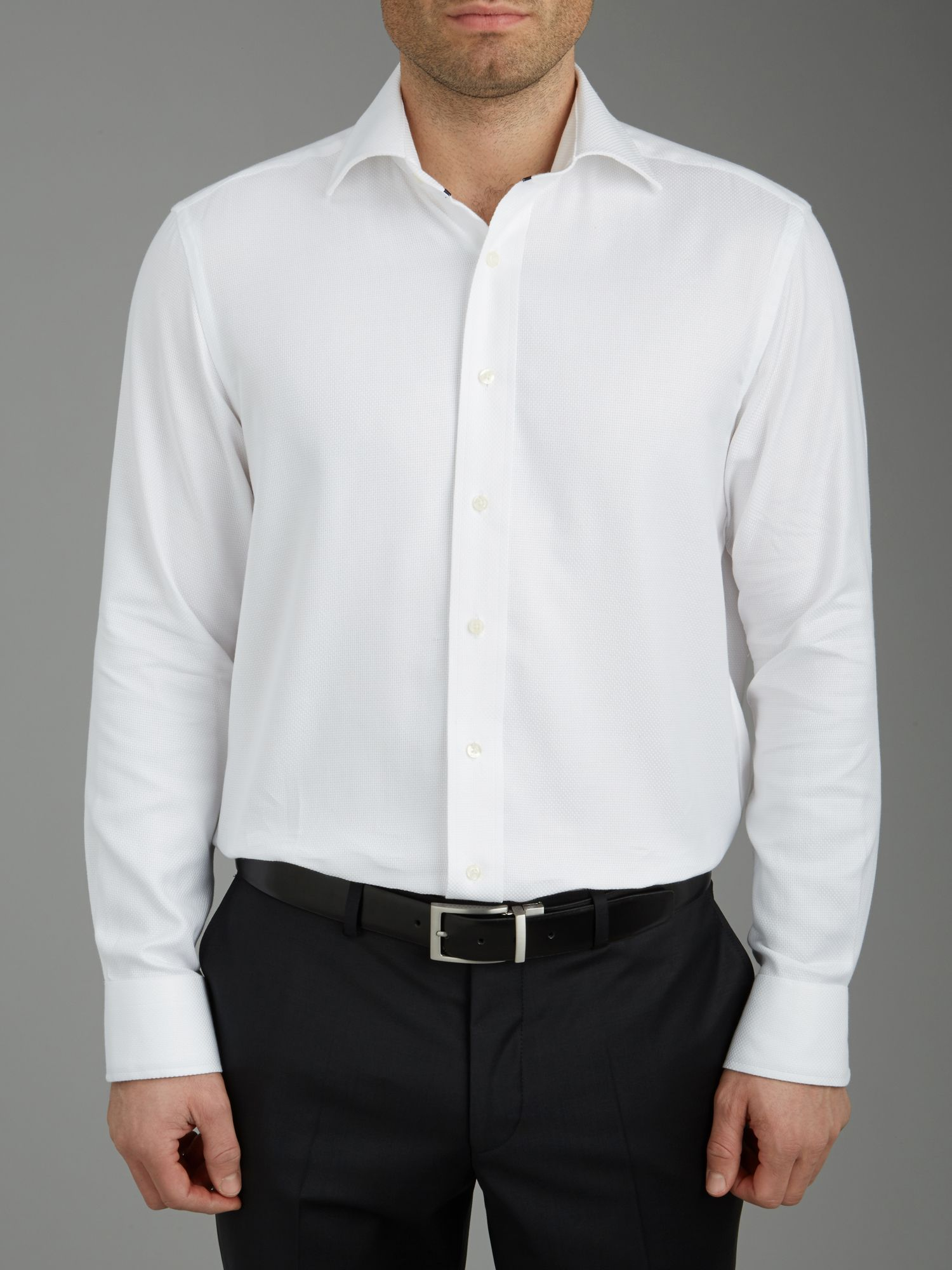 Semi plain long sleeve shirt