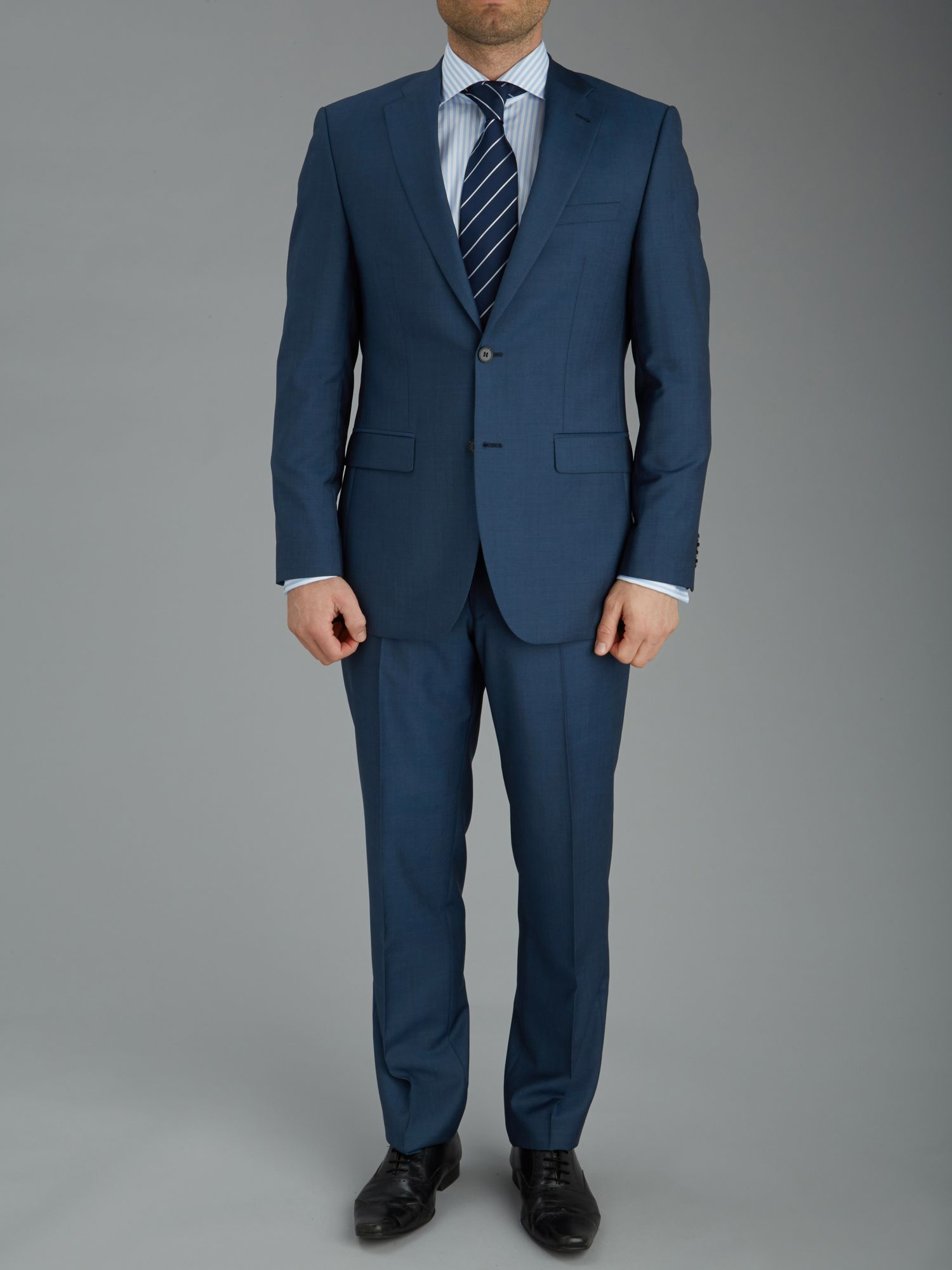 Mohair Look textured single breasted suit
