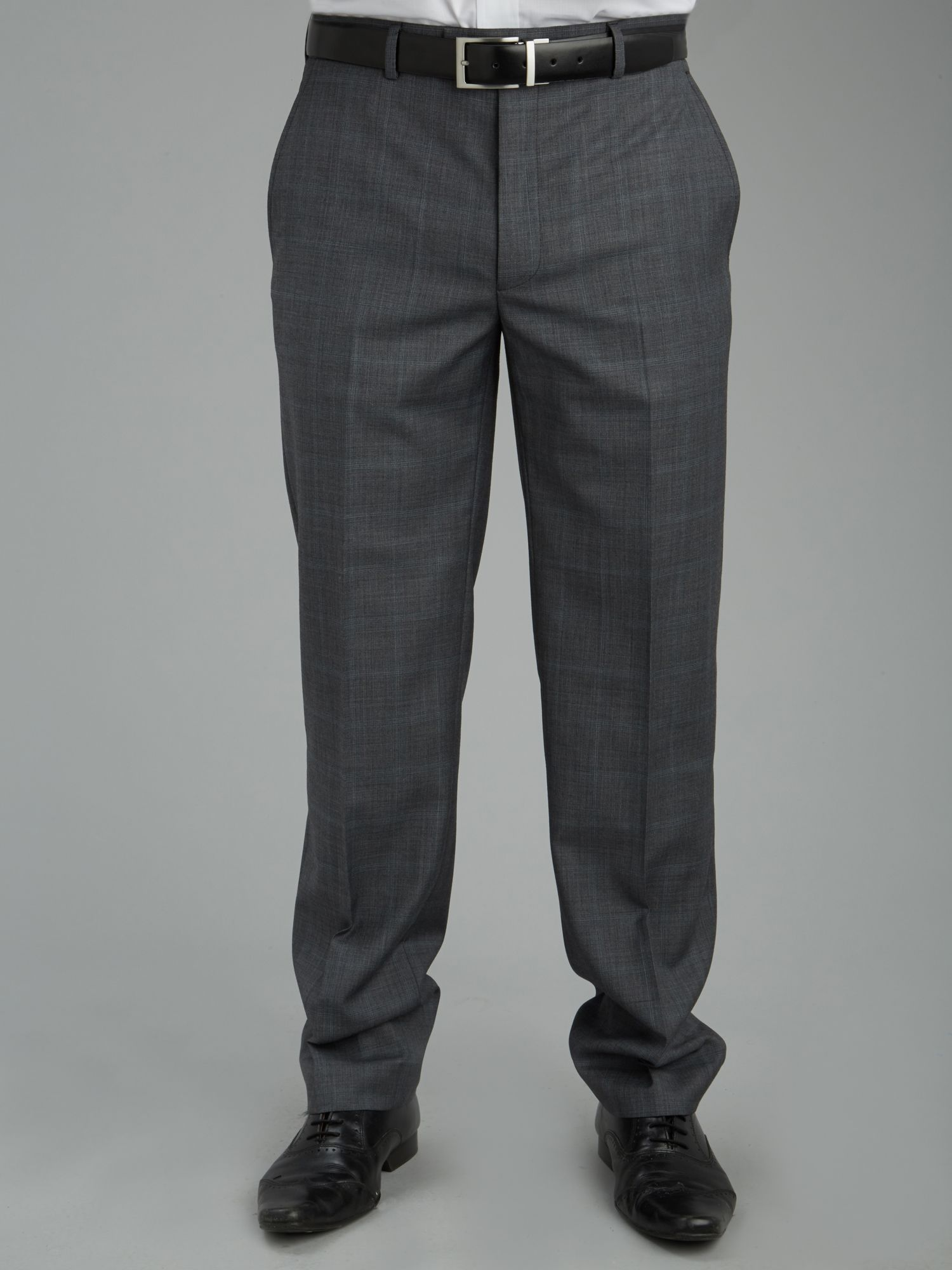 Multi check formal trousers