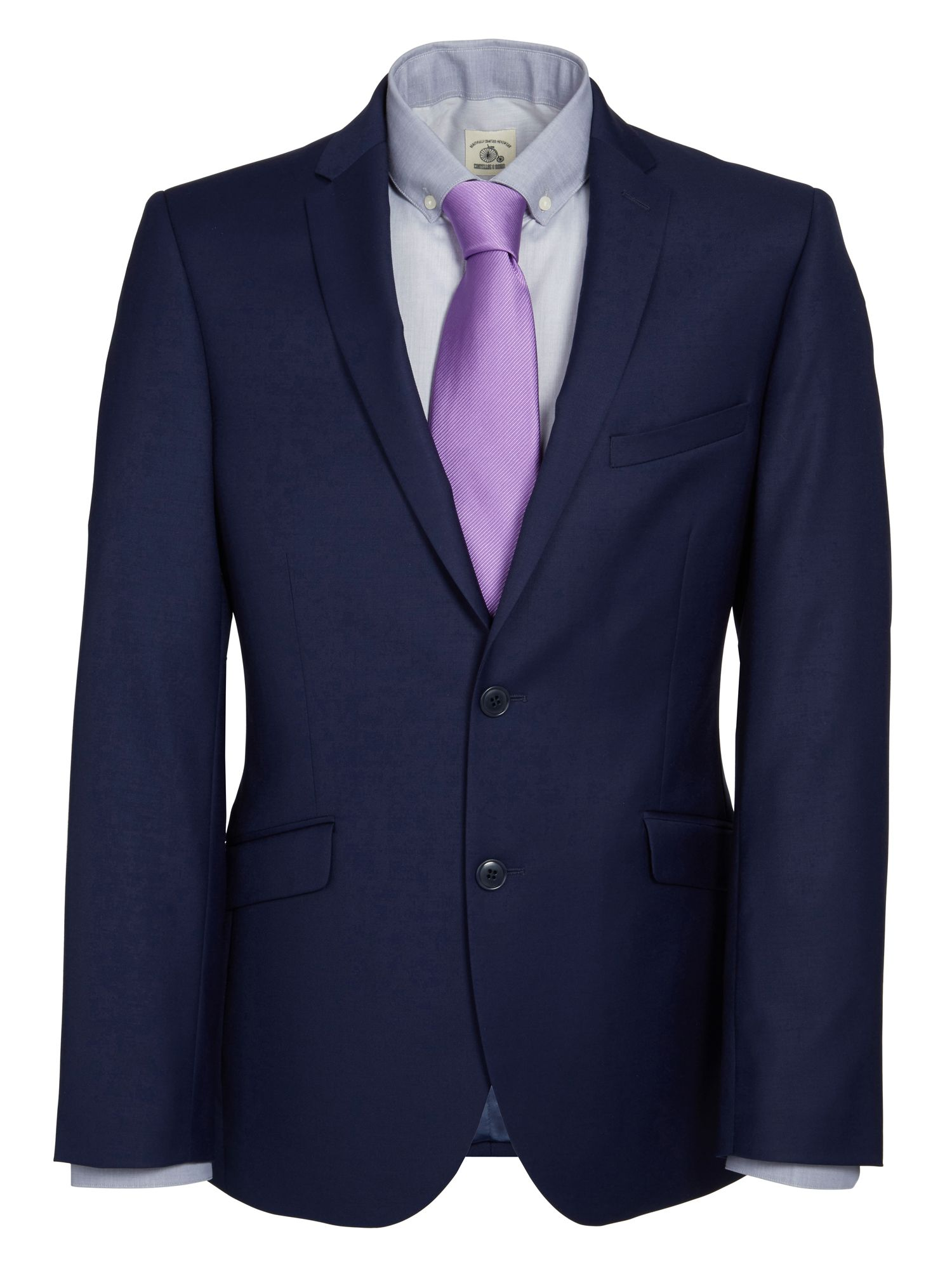 Slim fit single breasted jacket