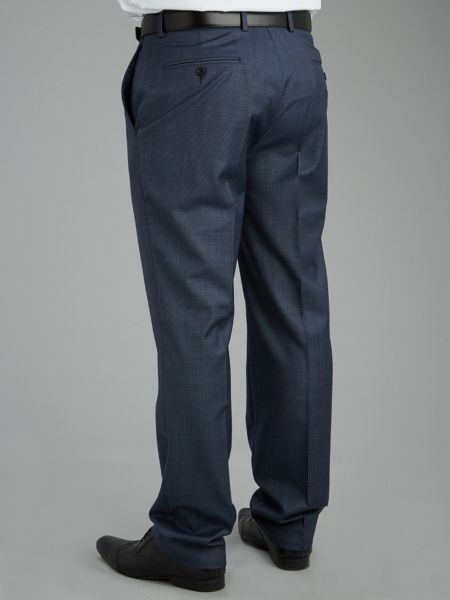 Paul Costelloe Modern Fit Blue Nailhead Suit Trousers