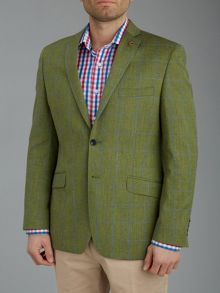 Contemporary check single breasted jacket