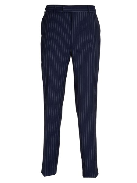 Paul Costelloe Blue Rope Stripe Suit Trousers