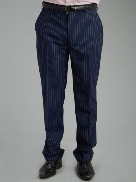 Blue Rope Stripe Suit Trousers