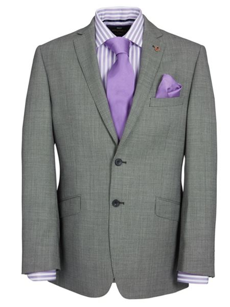 Paul Costelloe Modern Fit Grey Birdseye Suit Jacket