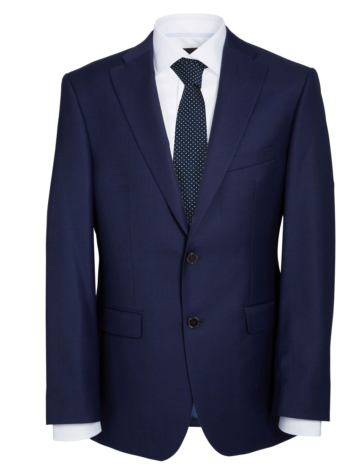 Semi-Plain wool single breasted suit