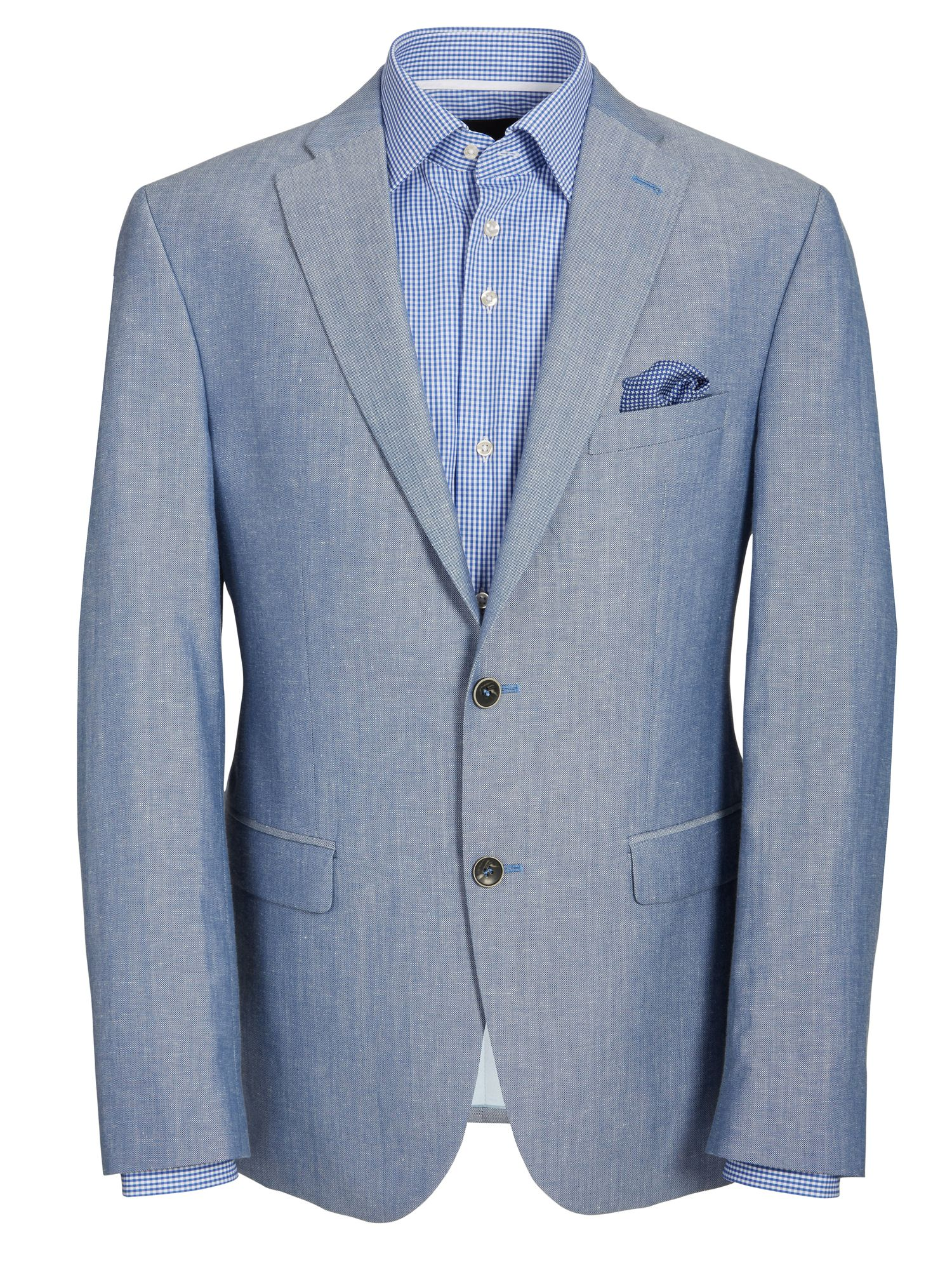 Linen formal single breasted suit jacket