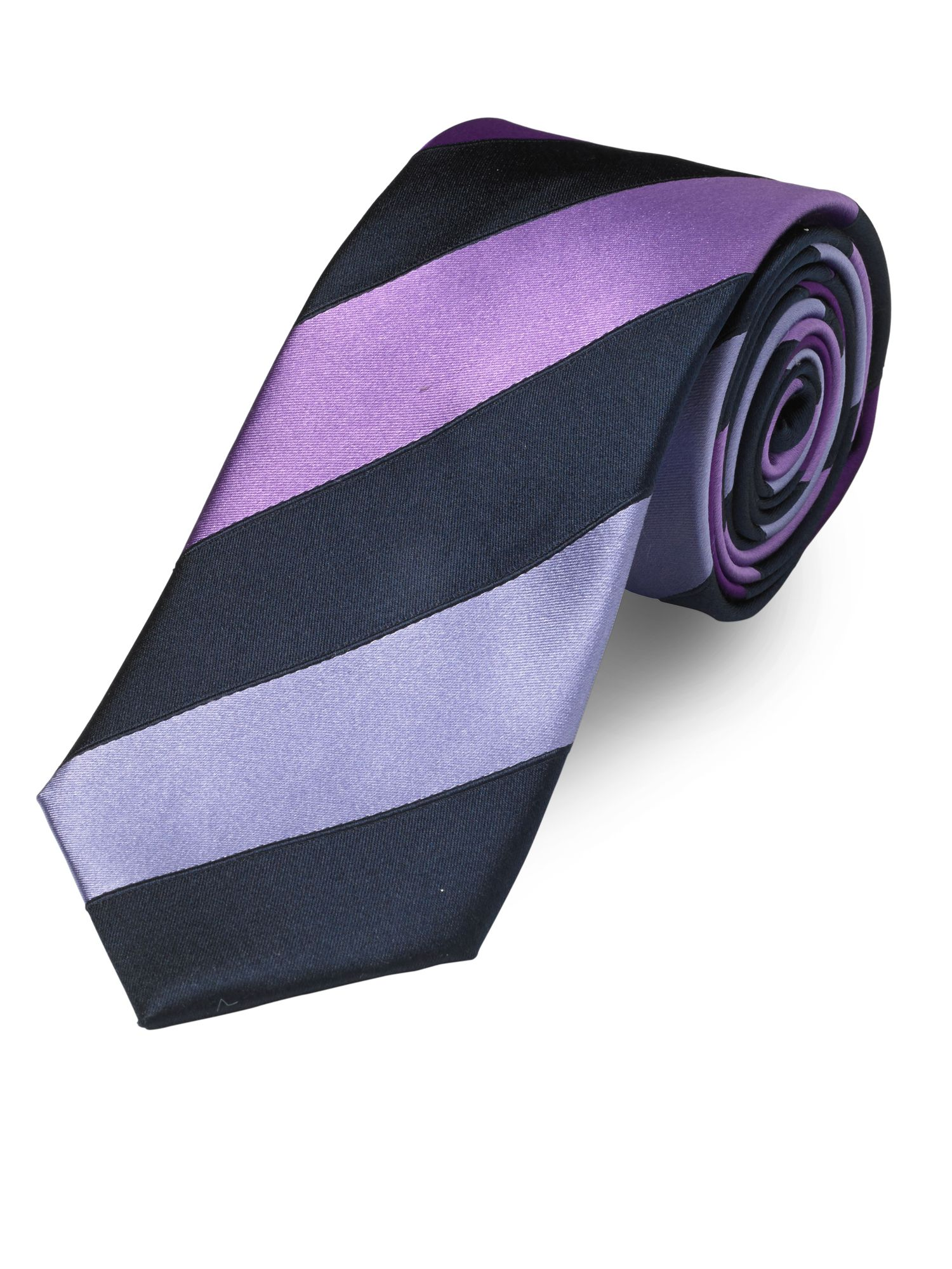 Fancy block stripe tie