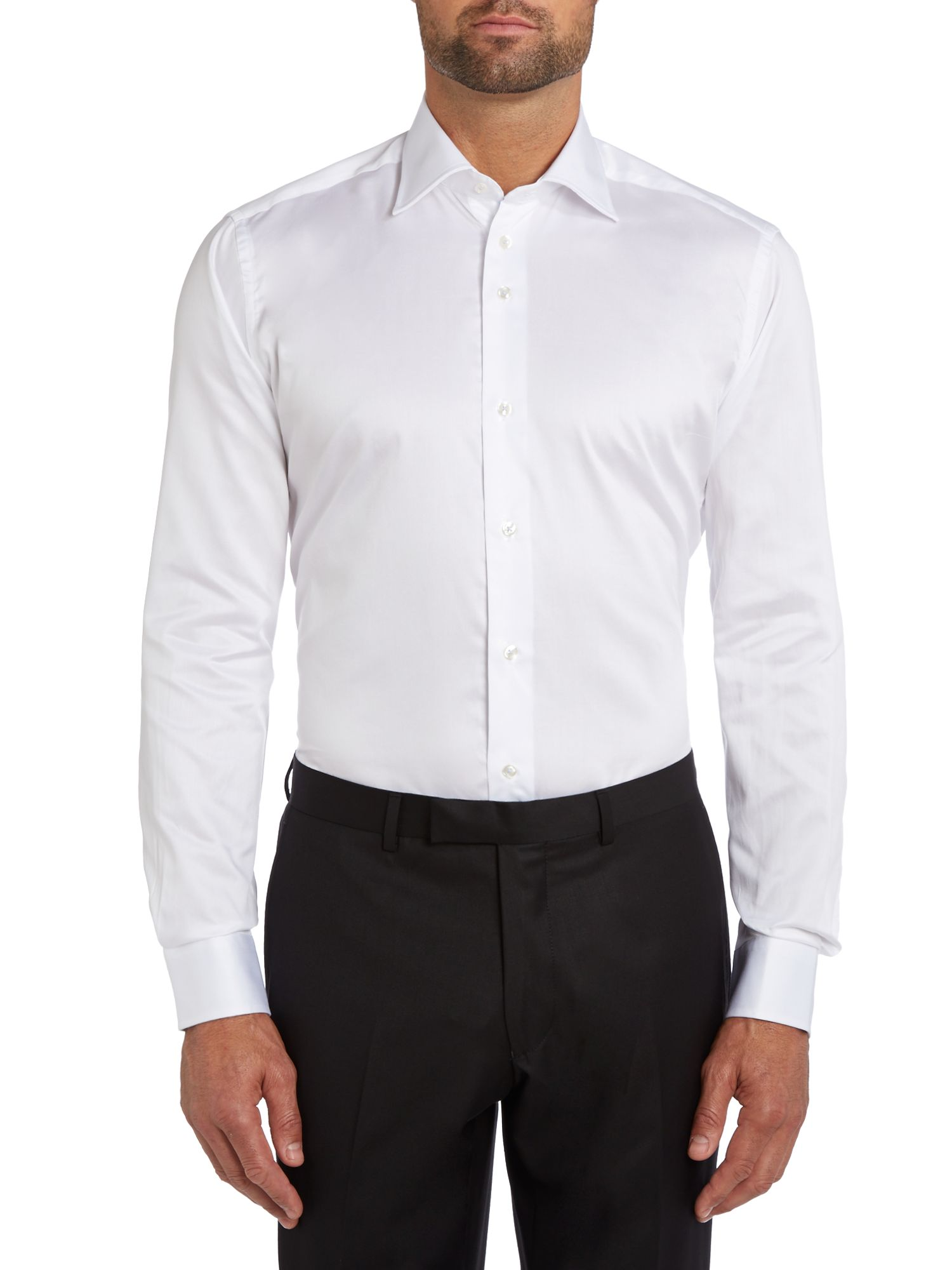 Plain long sleeve formal shirt