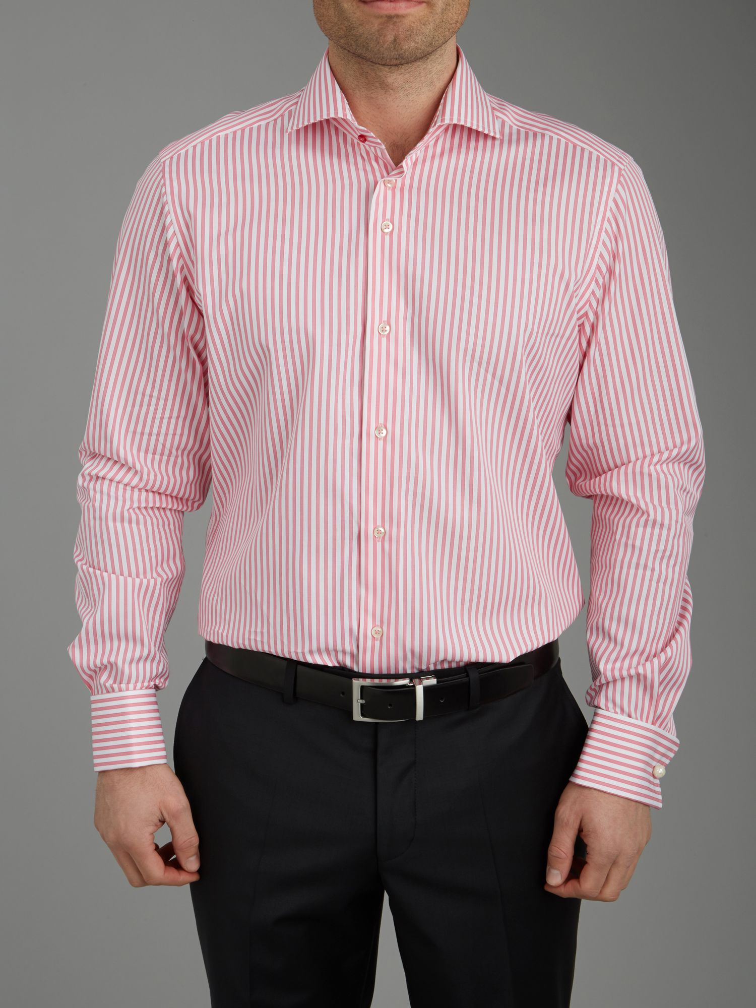 Stripe long sleeve formal shirt