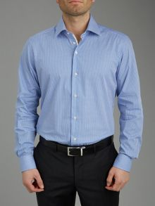 Check long sleeve formal shirt