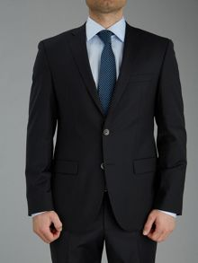 Baumler Plain Black Slim Fit Suit Jacket