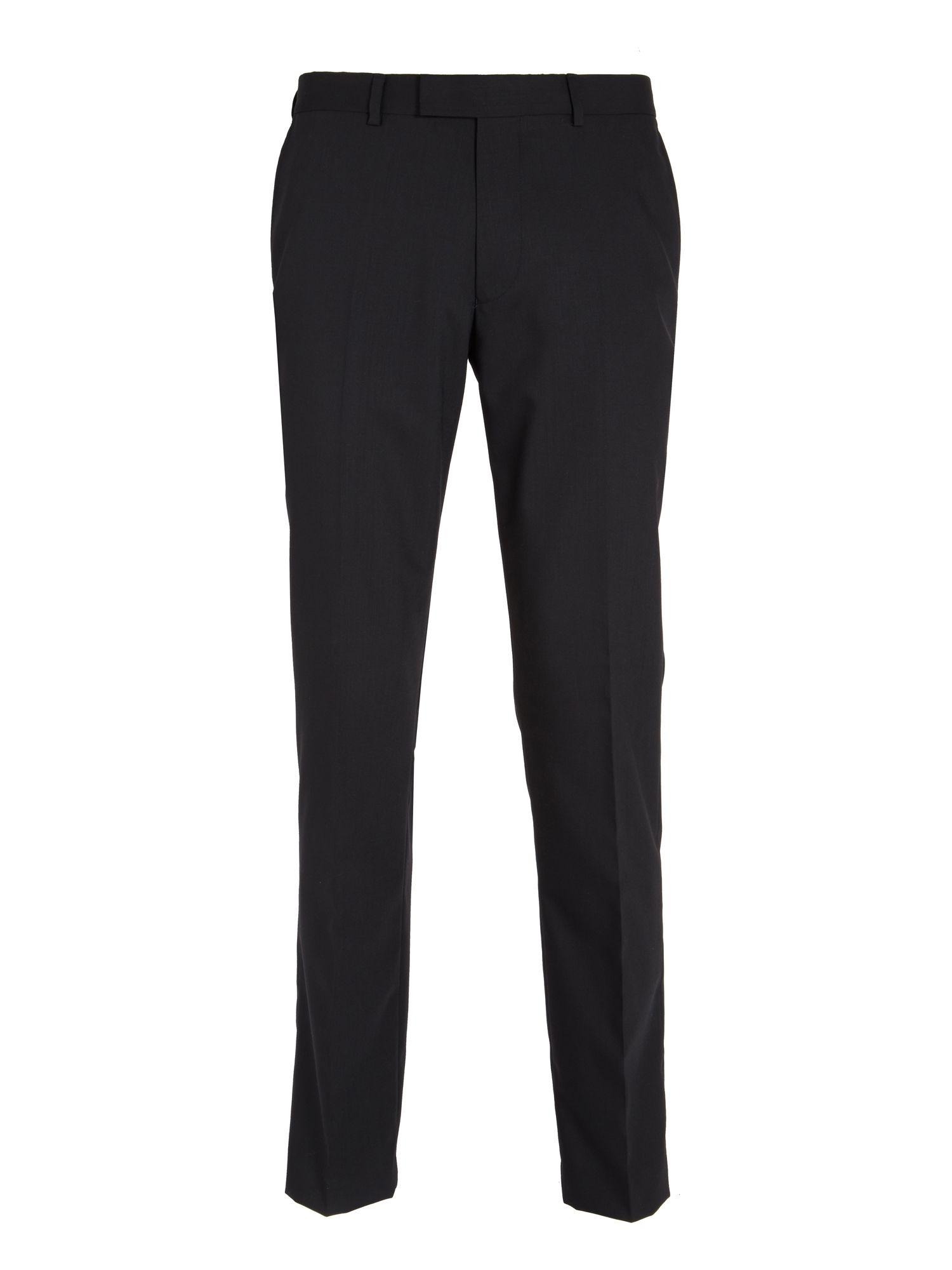 Plain slim fit tailored suit trousers