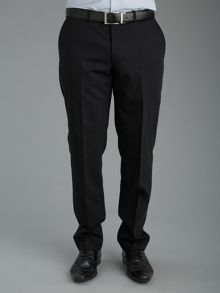 Baumler Plain Black Slim Fit Suit Trousers