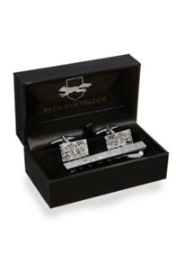 Cufflink And Paisley Tie Slide Set