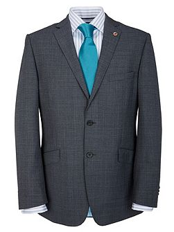Modern Fit Grey Semi Plain Suit Jacket
