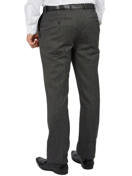 Paul Costelloe Grey Micro Tooth Slim Fit Suit Trousers