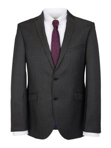 Glossy micro dot slim fit suit jacket