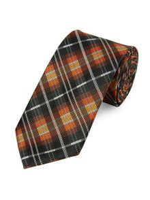 Modern prince of wales checked tie