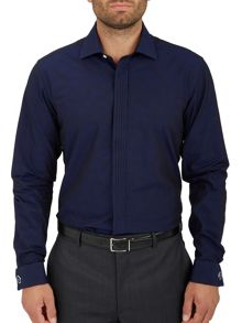 Paul Costelloe Plain Slim Fit Long Sleeve Cutaway Collar Shirt